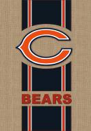 Chicago Bears Burlap Flag