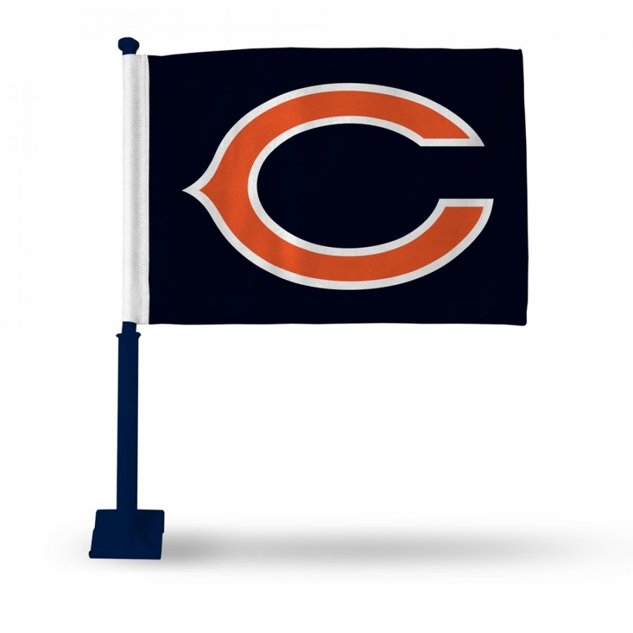 Chicago Bears Car Flag with Navy Pole
