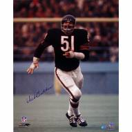 "Chicago Bears Dick Butkus Blue Jersey Signed 16"" x 20"" Photo"