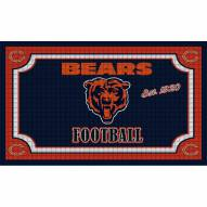 Chicago Bears Embossed Door Mat