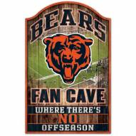 Chicago Bears Fan Cave Wood Sign