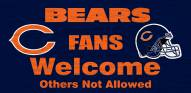 Chicago Bears Fans Welcome Wood Sign