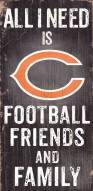 Chicago Bears Football, Friends & Family Wood Sign