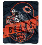 Chicago Bears Grand Stand Raschel Throw Blanket
