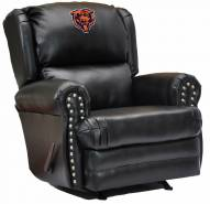 Chicago Bears Leather Coach Recliner
