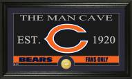 Chicago Bears Man Cave Bronze Coin Panoramic Photo Mint
