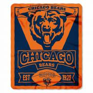 Chicago Bears Marque Fleece Blanket