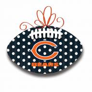 Chicago Bears Metal Football Door Decor