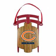 Chicago Bears Metal Sled Tree Ornament