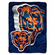 Chicago Bears Micro Raschel Bevel Blanket