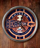 Chicago Bears NFL Chrome Wall Clock