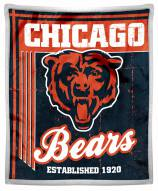 Chicago Bears Old School Mink Sherpa Throw Blanket