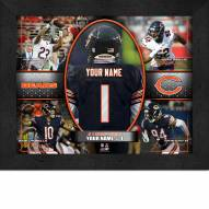 Chicago Bears Personalized Framed Action Collage