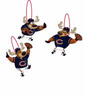 Chicago Bears Reindeer Ornaments