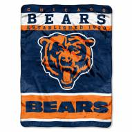 Chicago Bears Sky Helmet Raschel Blanket