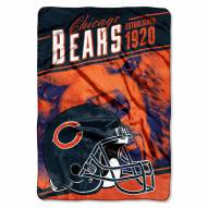 Chicago Bears Stagger Raschel Blanket