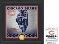 Chicago Bears State Bronze Coin Photo Mint