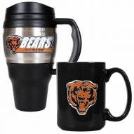 Chicago Bears Travel Mug & Coffee Mug Set