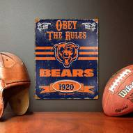 Chicago Bears Vintage Metal Sign