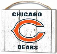 Chicago Bears Weathered Logo Small Plaque