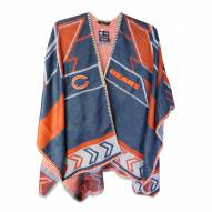 Chicago Bears Whipstitch Poncho