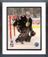 Chicago Blackhawks Corey Crawford 2014 NHL Stadium Series Action Framed Photo