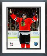 Chicago Blackhawks Patrick Kane Celebrated his 100th NHL Goal Framed Photo