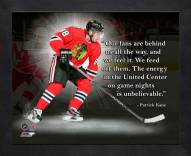 Chicago Blackhawks Patrick Kane Framed Pro Quote