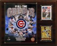 "Chicago Cubs 12"" x 15"" All-Time Great Photo Plaque"