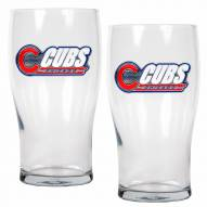 Chicago Cubs 20 oz. Pub Glass - Set of 2