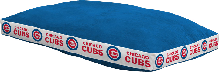 """Chicago Cubs 26"""""""" x 37"""""""" Dog Bed"""