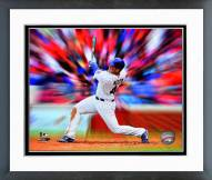 Chicago Cubs Anthony Rizzo Motion Blast Framed Photo