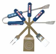 Chicago Cubs 4-Piece Stainless Steel BBQ Set
