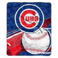 Chicago Cubs Big Stick Sherpa Blanket
