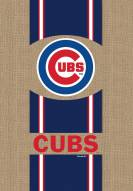 Chicago Cubs Burlap Garden Flag