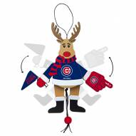 Chicago Cubs Cheering Reindeer Ornament