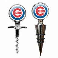 Chicago Cubs Cork Screw & Wine Bottle Topper Set