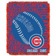 Chicago Cubs Double Play Jacquard Throw Blanket