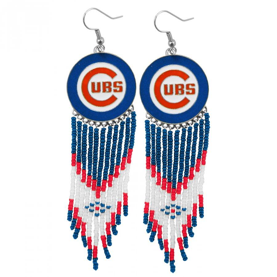 Chicago Cubs Dreamcatcher Earrings
