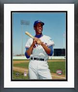 Chicago Cubs Ernie Banks Bat on shoulder Posed Framed Photo