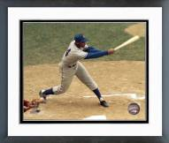 Chicago Cubs Ernie Banks Batting Framed Photo