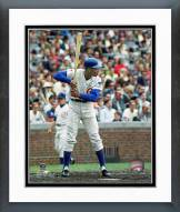 Chicago Cubs Ernie Banks Batting Stance Framed Photo