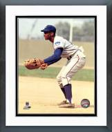 Chicago Cubs Ernie Banks Fielding Framed Photo