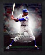 Chicago Cubs Ernie Banks Framed Pro Quote