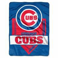 Chicago Cubs Home Plate Raschel Blanket