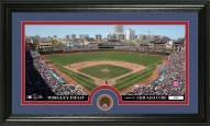 Chicago Cubs Infield Dirt Coin Panoramic Photo Mint