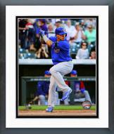 Chicago Cubs Javier Baez 1st MLB at bat Framed Photo