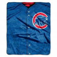 Chicago Cubs Jersey Raschel Throw Blanket
