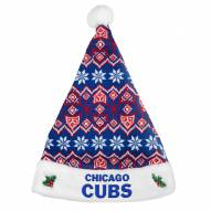 Chicago Cubs Knit Santa Hat