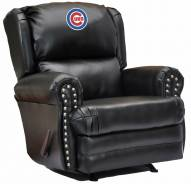 Chicago Cubs Leather Coach Recliner